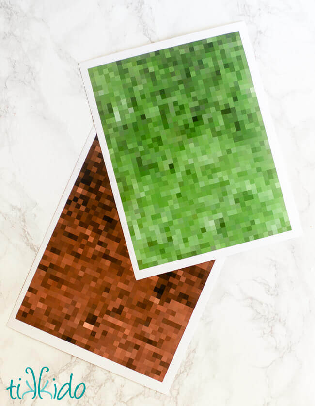 picture relating to Printable Minecraft identified as Straightforward Minecraft Cupcake Wrappers Information and Totally free Printable