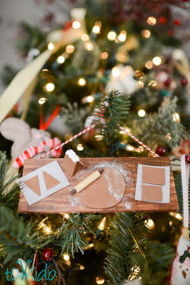 Miniature Gingerbread Baking Christmas Ornament Tutorial ...