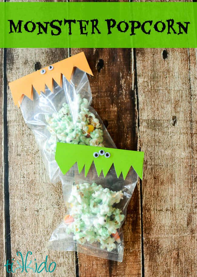 monster popcorn mix halloween recipe - Article About Halloween