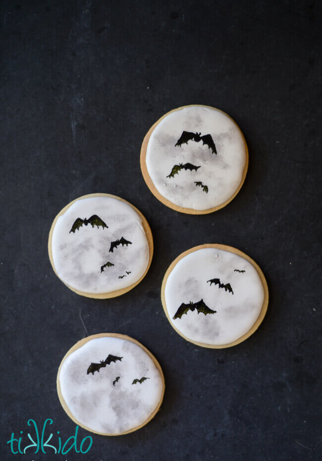 Full Moon Sugar Cookies for Halloween