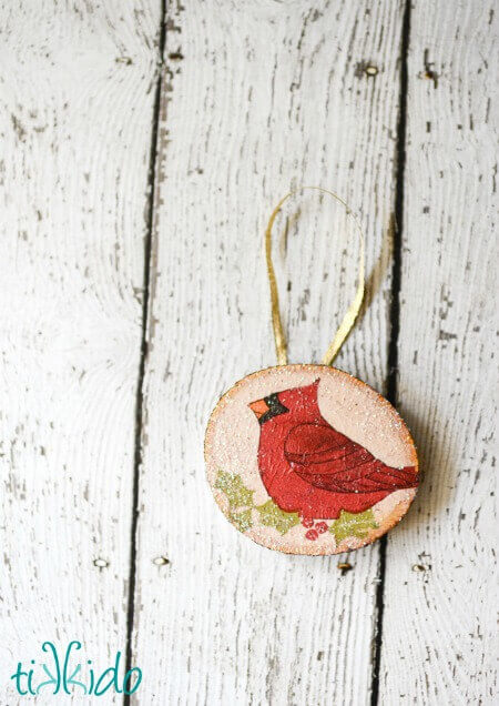 rustic christmas craft ideas rustic wood decoupage ornament tutorial tikkido 5349