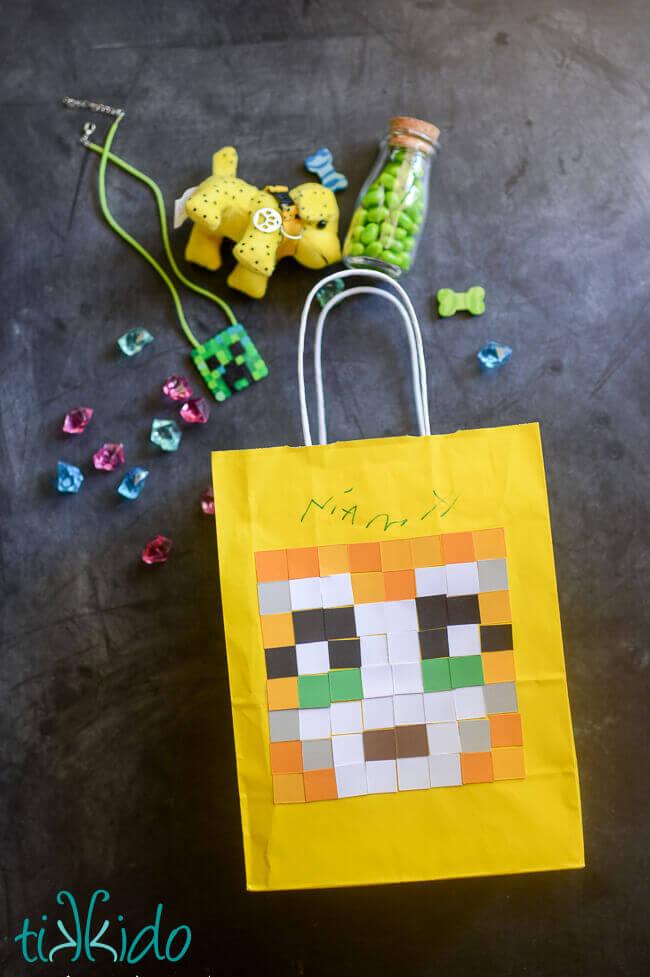 Minecraft Stampy Longnose Gift Bag Tutorial | Tikkido.com