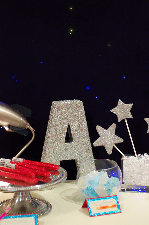 diy project how to make a large glittery letter decoration