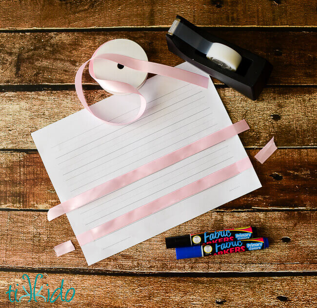 Teacher Appreciation Gift Wrapping Tutorial And Craft Lighting Blog. I Started By Printing Out A Free Printable Handwriting Paper Worksheet From Donna Young Used The 34 Size But Has Ton Of Different Options To. Worksheet. Handwriting Worksheets Donna Young At Clickcart.co