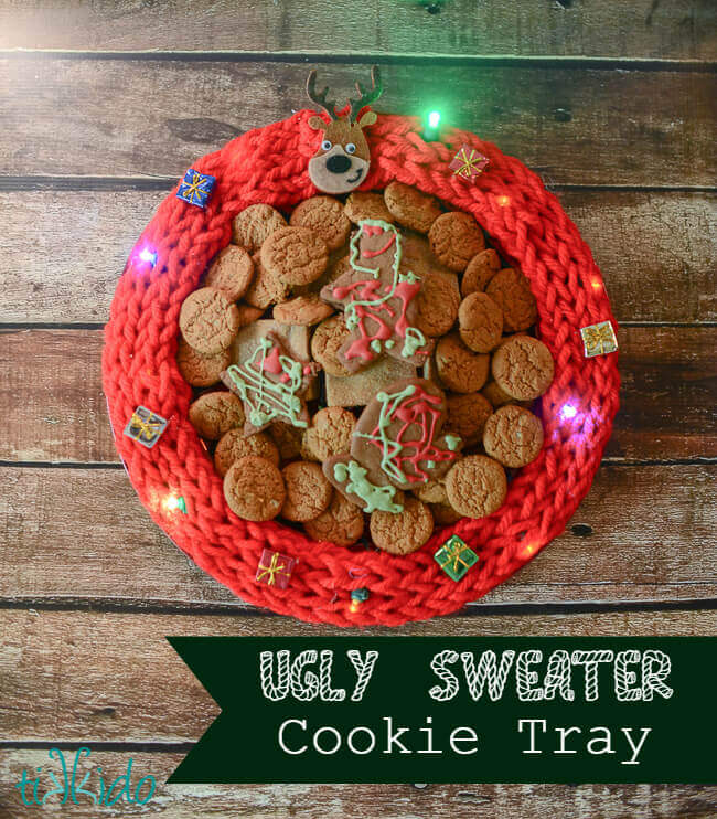 Ugly Sweater Christmas Party Cookie Tray Tutorial And Ugly Sweater Blog Hop Tikkido Com