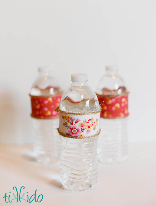 Easy Fabric Decorated Water Bottle Tutorial