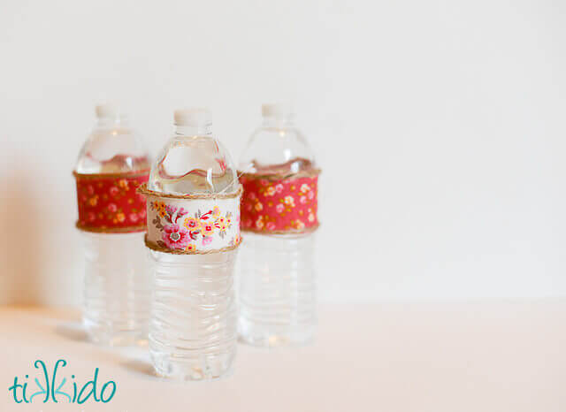 Easy Fabric Decorated Water Bottle Tutorial Tikkido Com