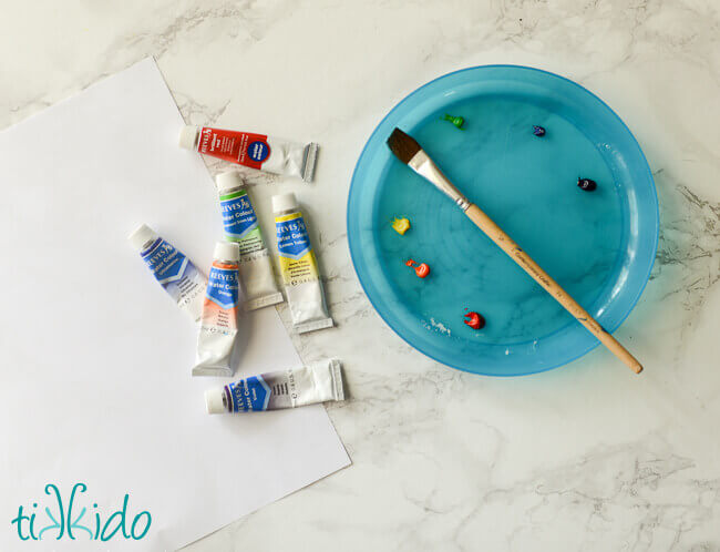 DIY Watercolor Gift Wrapping Paper Tutorial Tikkido.com