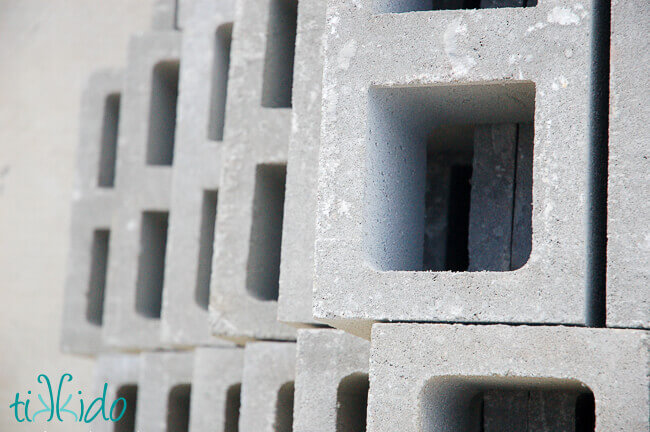 Materials for Building a Raised Herb Garden Bed: concrete cinder blocks ...